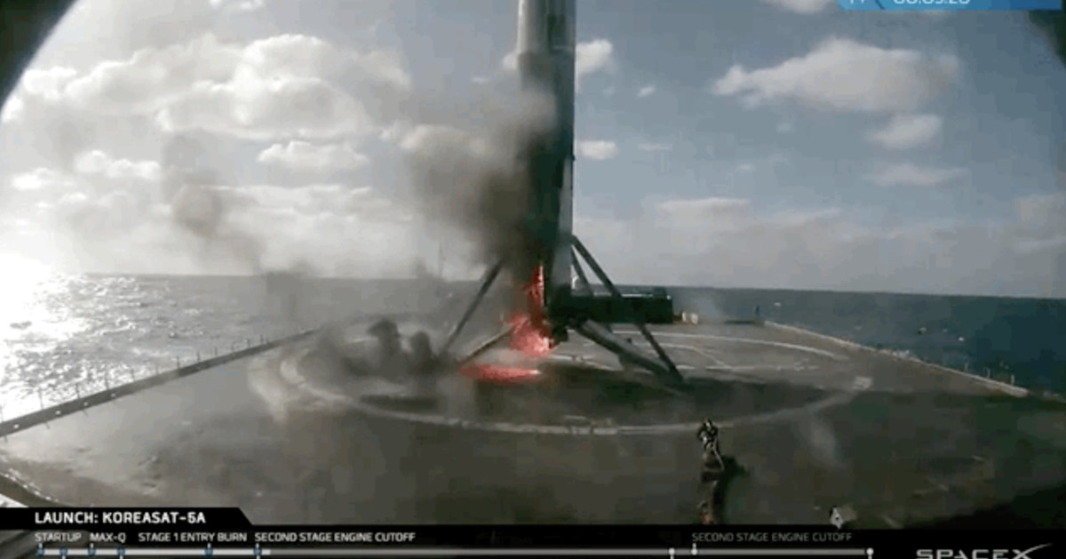 SpaceX lands the 13th Falcon 9 rocket of the year in flames
