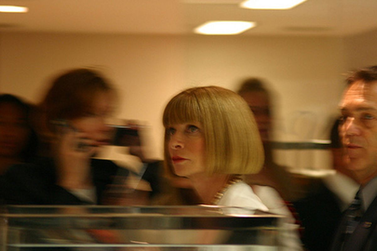 """Anna Wintour at Bloomingdale's via <a href=""""http://www.flickr.com/photos/rachel_photo/3919431893/in/pool-rackedny"""">rachel.photo</a>/Racked Flickr Pool"""