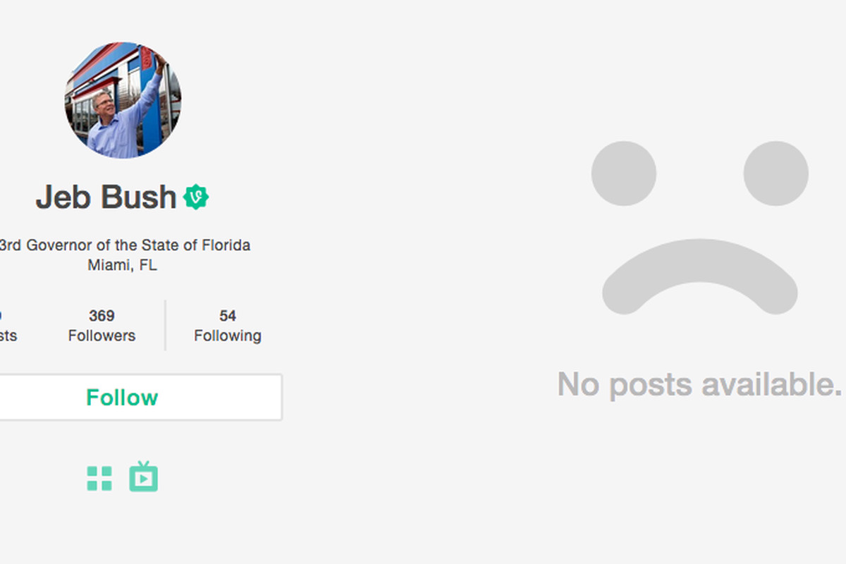 Governor Jeb Bush's new Vine account launched during the debate... but by whom?