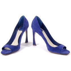 Christian Dior suede royal blue