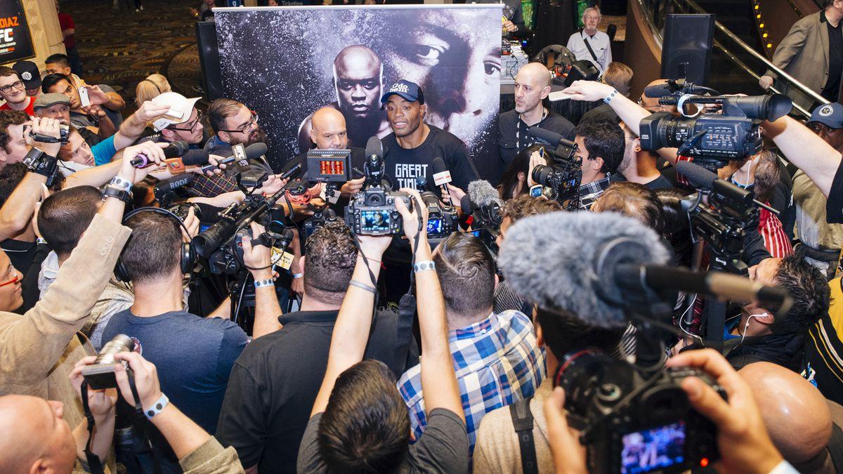 UFC 183 Anderson Silva Workout