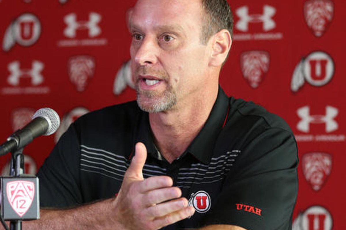 University of Utah coach Larry Krystkowiak talks about his decision to stop the Utah-BYU basketball games for the time being, Monday, Jan. 11, 2016, in Salt Lake City.