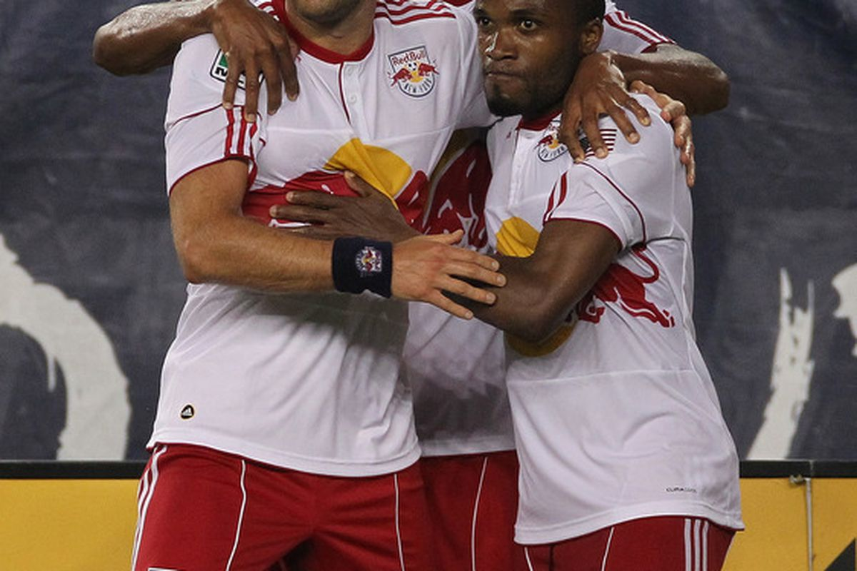 The Red Bulls are holding on to more than just each other as Portland, DC, and Chivas are all in the chase for the tenth and final playoff spot (Photo by Jim Rogash/Getty Images).