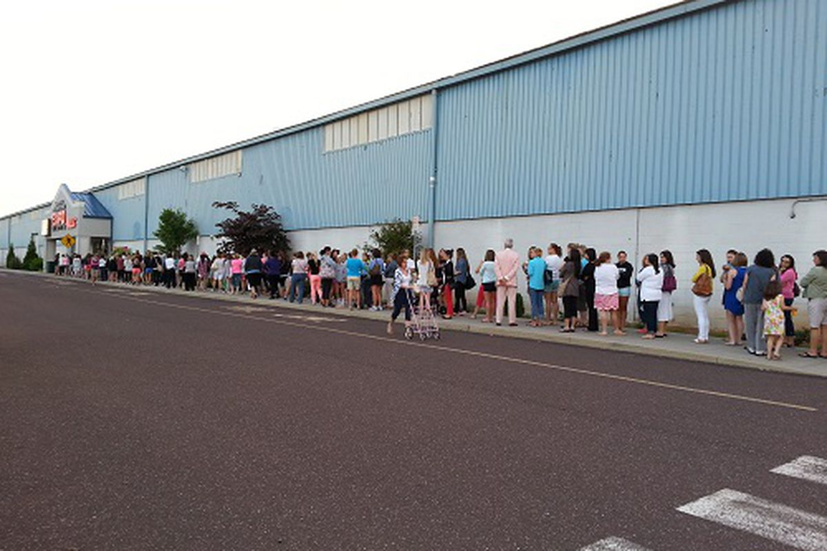 The line at 6:15 this morning.