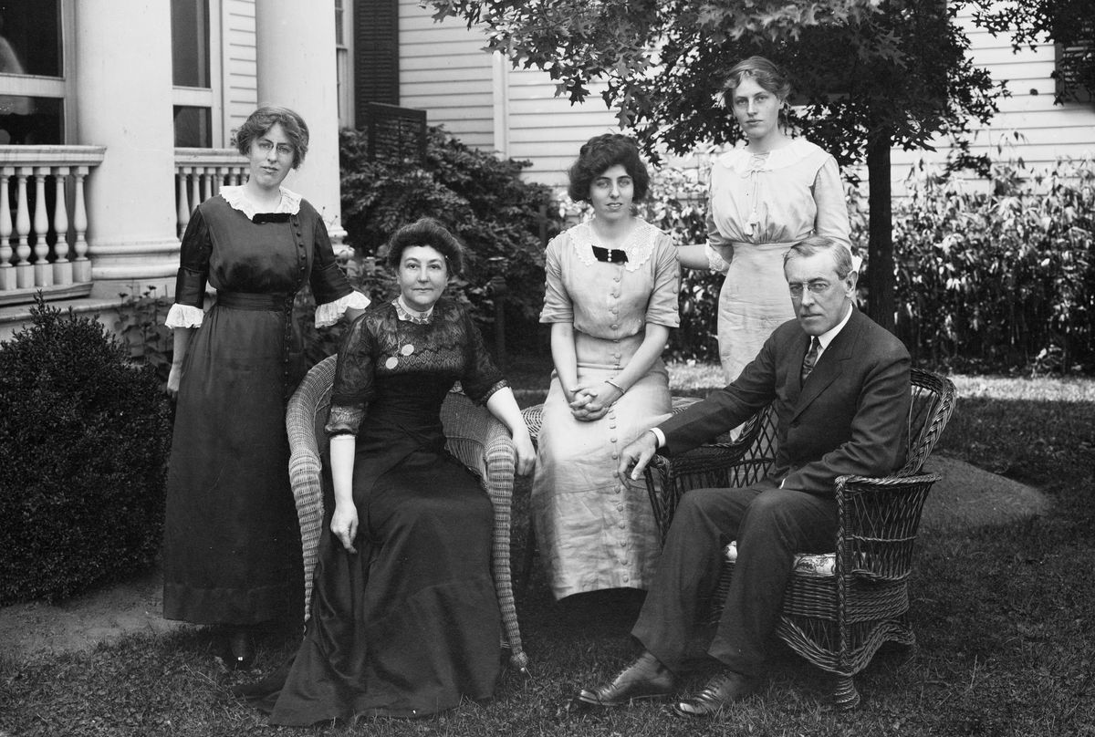 The Wilson family in 1912. No, Woodrow Wilson did not invent Mother's Day.