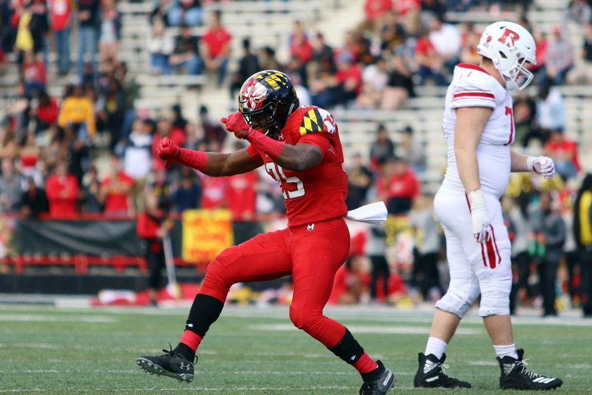Maryland football Antoine Brooks vs. Rutgers