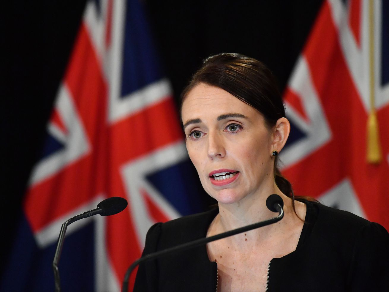 New Zealand Prime Minister Jacinda Ardern speaks to media to address the Christchurch mass shootings.