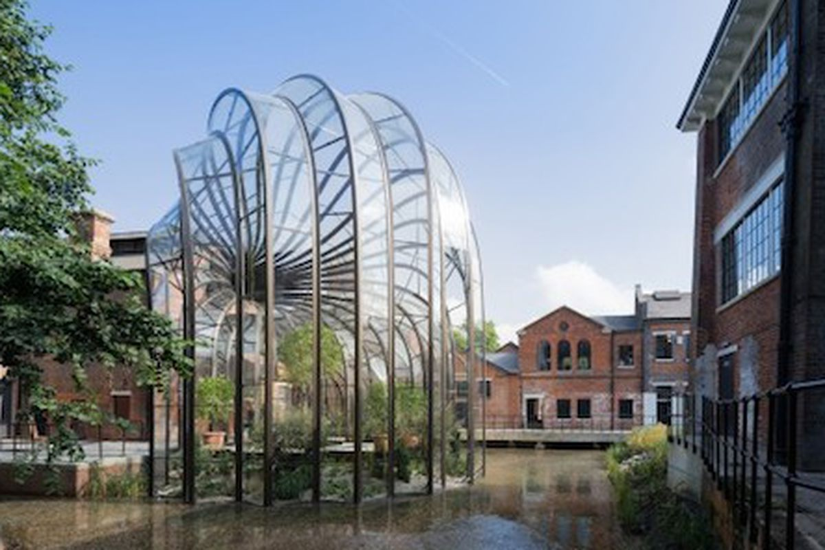 The Bombay Sapphire Distillery by Heatherwick Studios, which won both the jury and popular vote for the Architizer A+ Awards Factory Warehouse category .