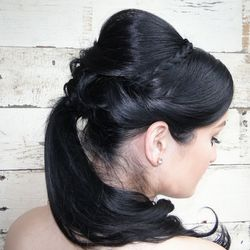 Princess-style pony, created by SalonCapri Newbury senior stylist Graziella Lembo; Photo courtesy of SalonCapri