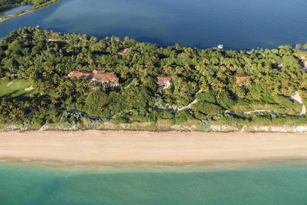 An aerial of the Ziff Family compound in Manalapan