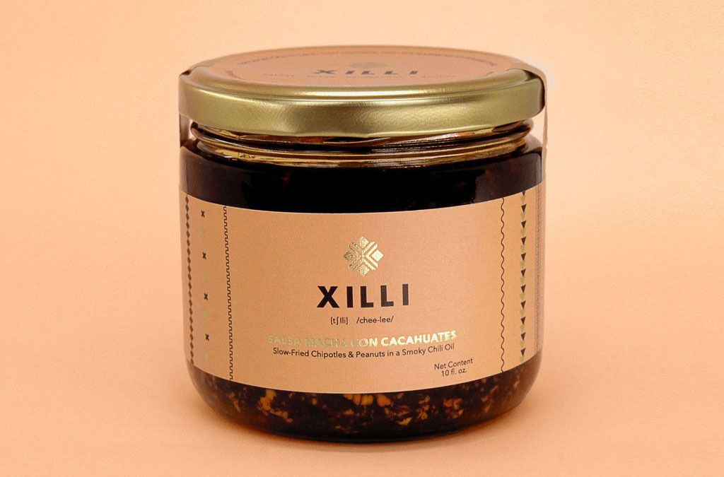 a jar of Xilli salsa macha
