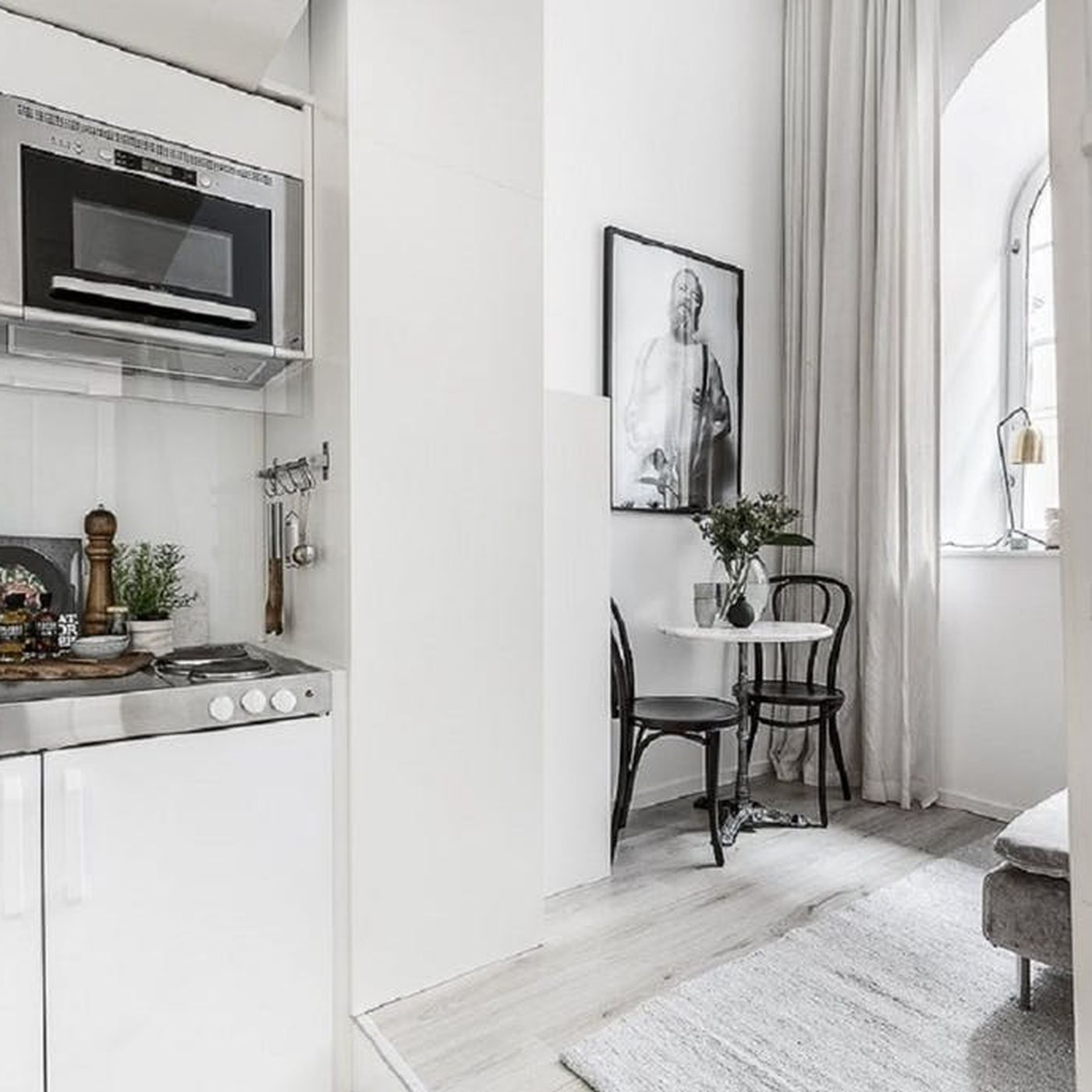 Small Living Is Taken To A Stylish Extreme In 100 Square Foot Stockholm Apartment Curbed