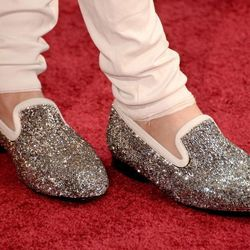Johnny Weir's bedazzled shoes.