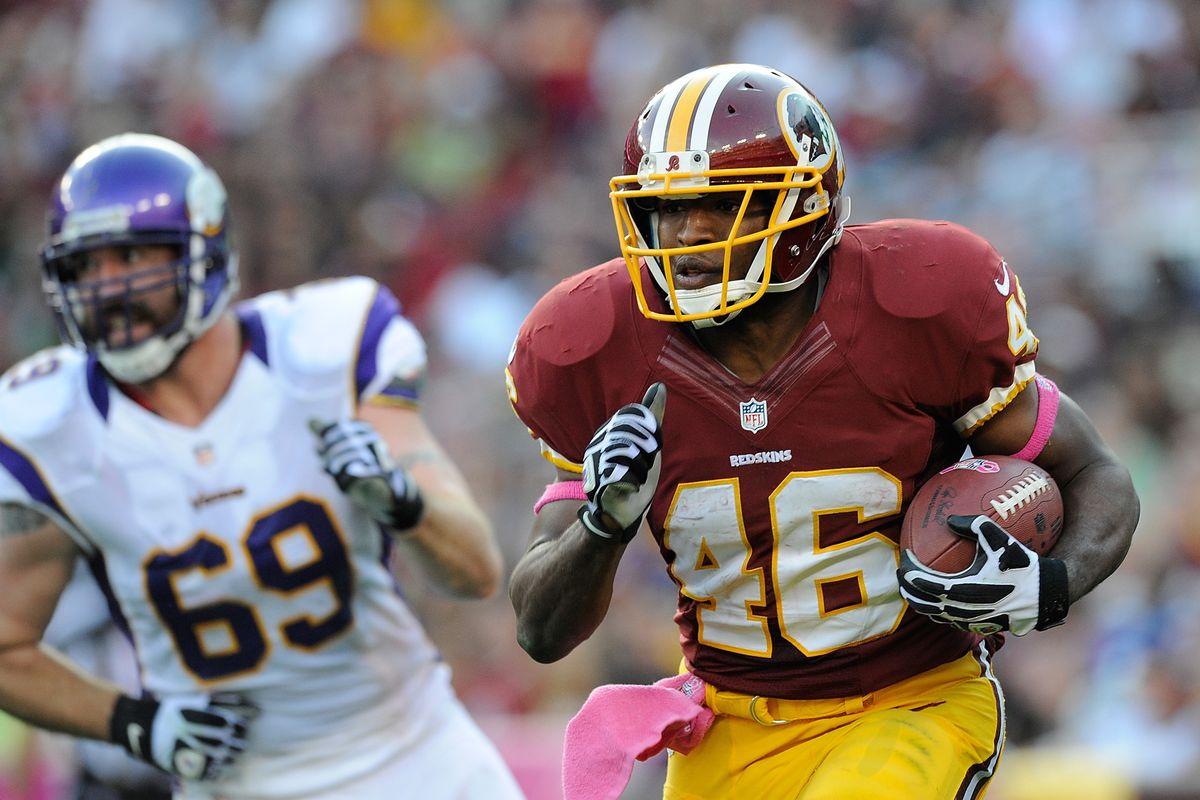 Washington Redskins' running back Alfred Morris.