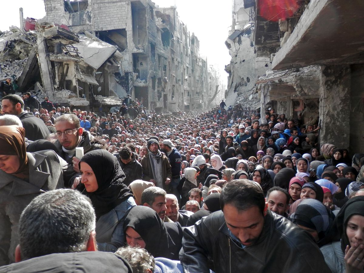Yarmouk refugees
