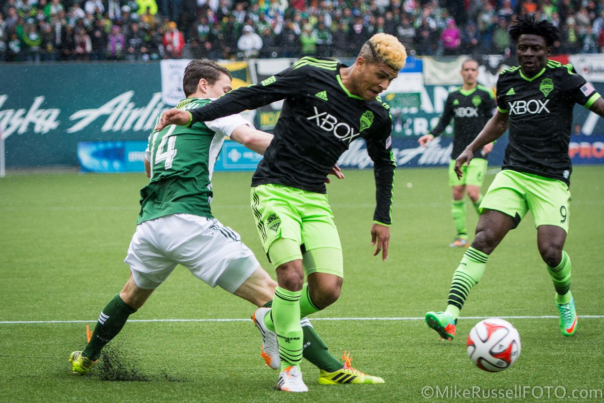 Yedlin draws a penalty against Portland in a 4-4 tie.