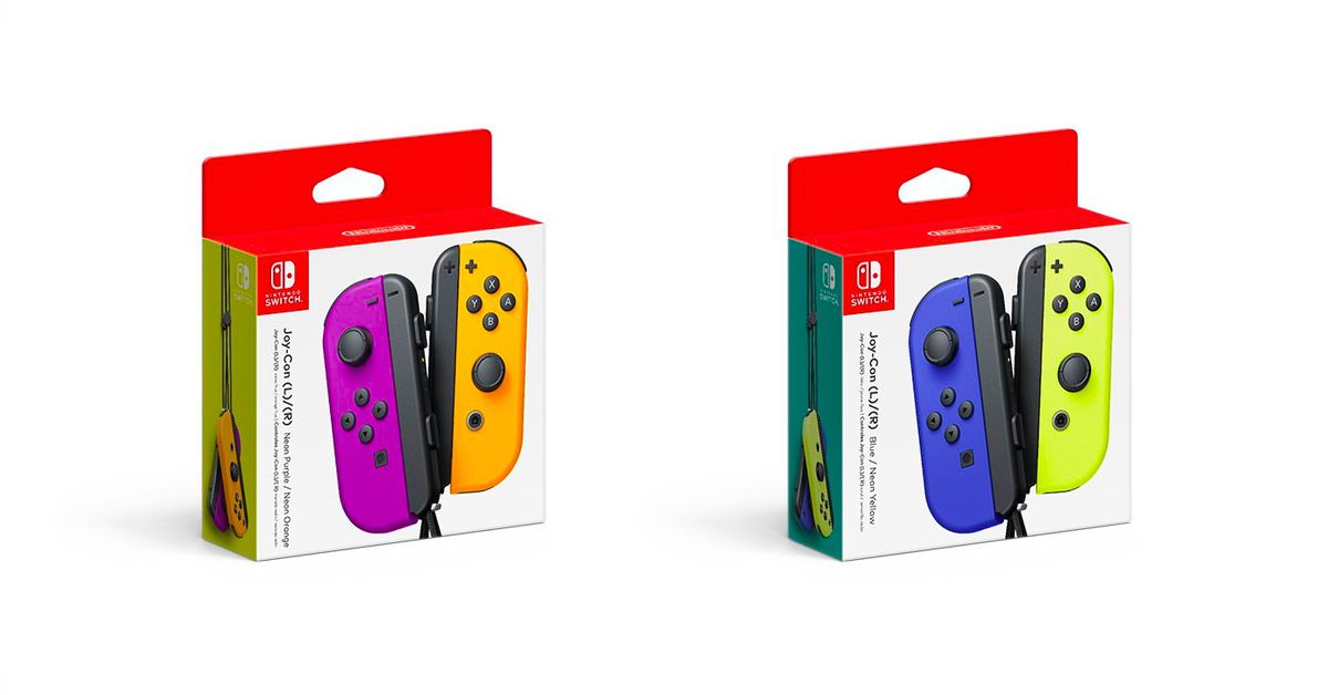 New Nintendo Switch Joy-Con colors coming in October