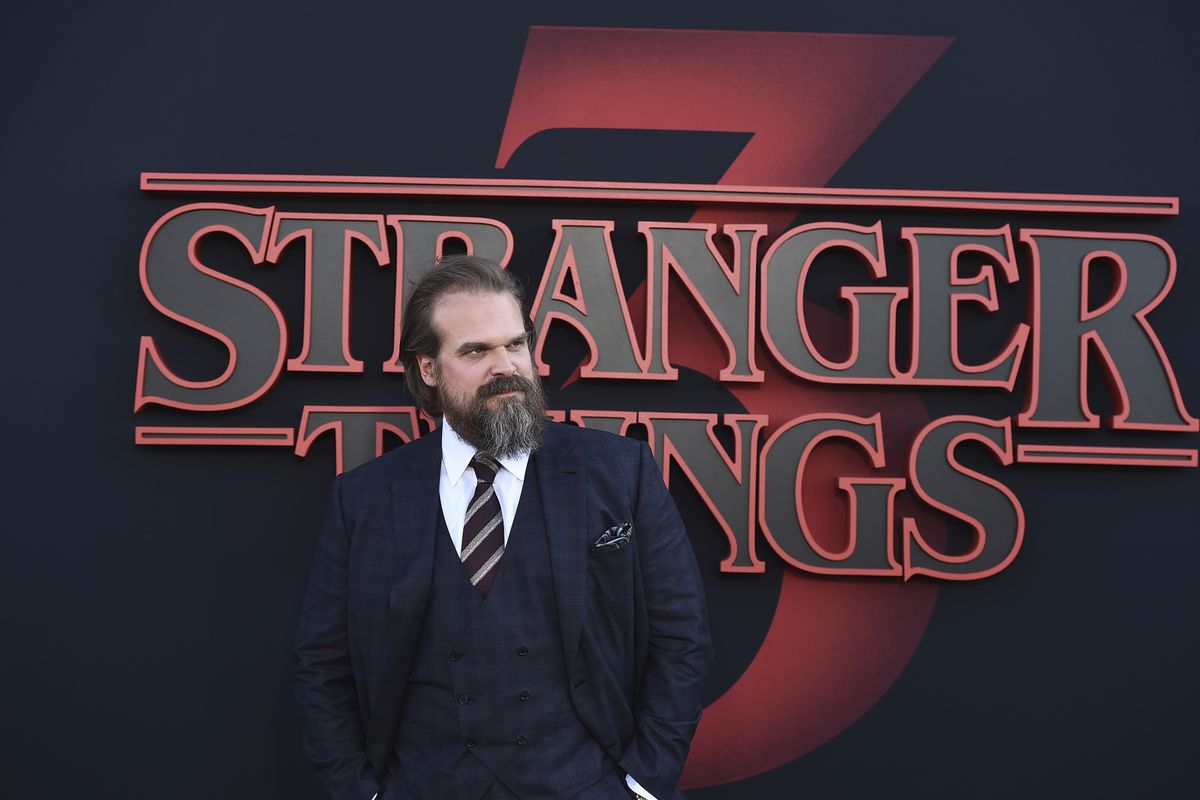 """David Harbour arrives at the season 3 premiere of """"Stranger Things"""" at Santa Monica High School on Friday, June 28, 2019, in Santa Monica, California. Harbour recently opened up about the upcoming fourth season of """"Stranger Things."""""""