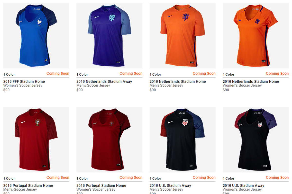 db81fc5b9 Nike Soccer thinks women s jerseys need to show more skin - Stars ...