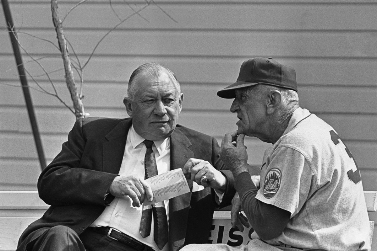 Casey Stengel and George M. Weiss in Private Conversation
