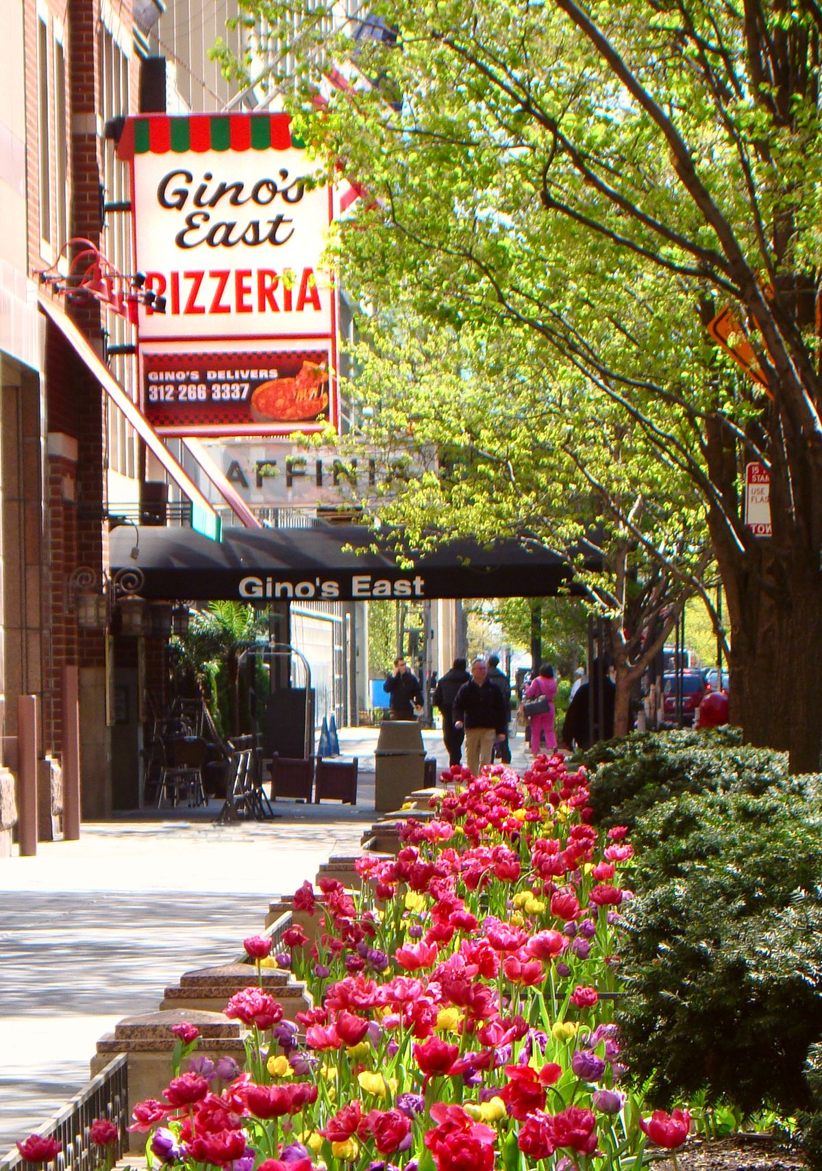 Gino's East in the Gold Coast is one of there pizzerias you'll visit on the Chicago Deep-Dish Pizza Tour from Finger Licking Foodie Tours.