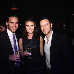 Curbed's Elise Kostrivas and Trevor Jacobson with Darrin Early, left