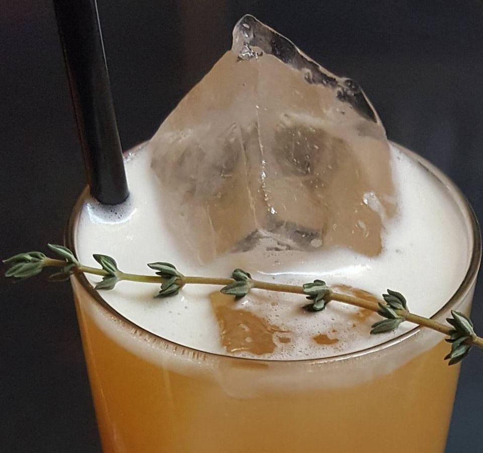 Backbar's mocktails — like this one, Thyme for Apples —are just as elaborate as its cocktails