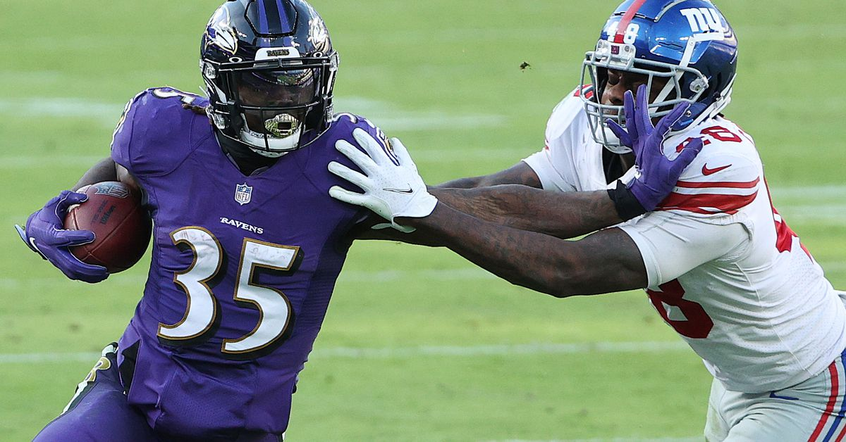 Gus Edwards injury update: Ravens RB downgraded to questionable for Week 17 - DraftKings Nation
