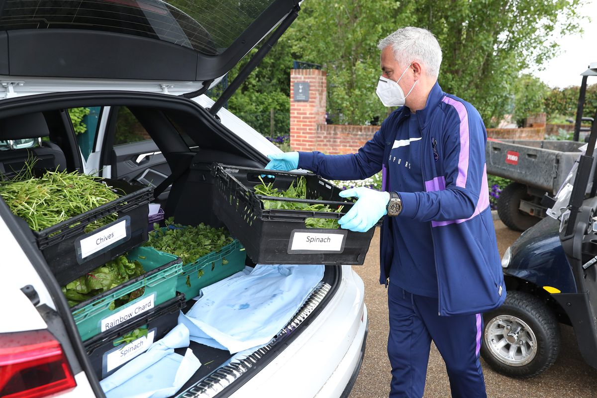 Jose Mourinho Helps Delivers Food Parcels to Aid the Efforts Against Covid-19
