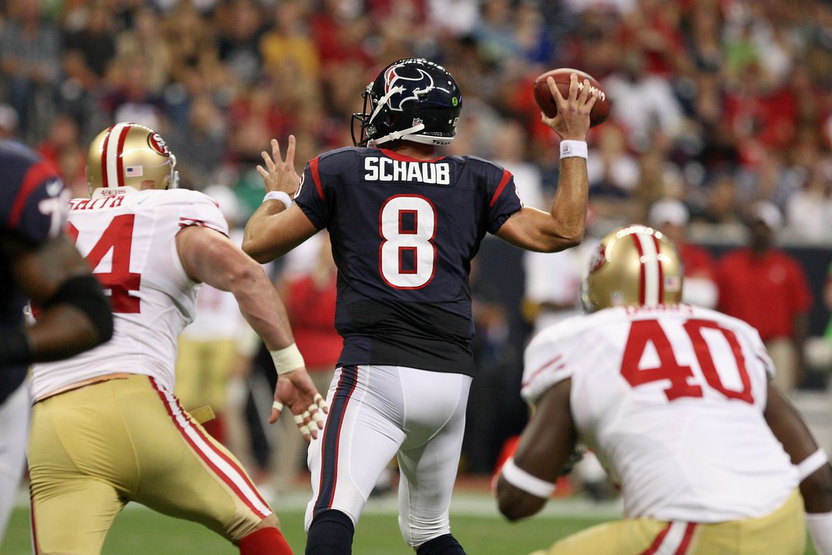 Like Schaub, I'm picking myself back up after another rough week.