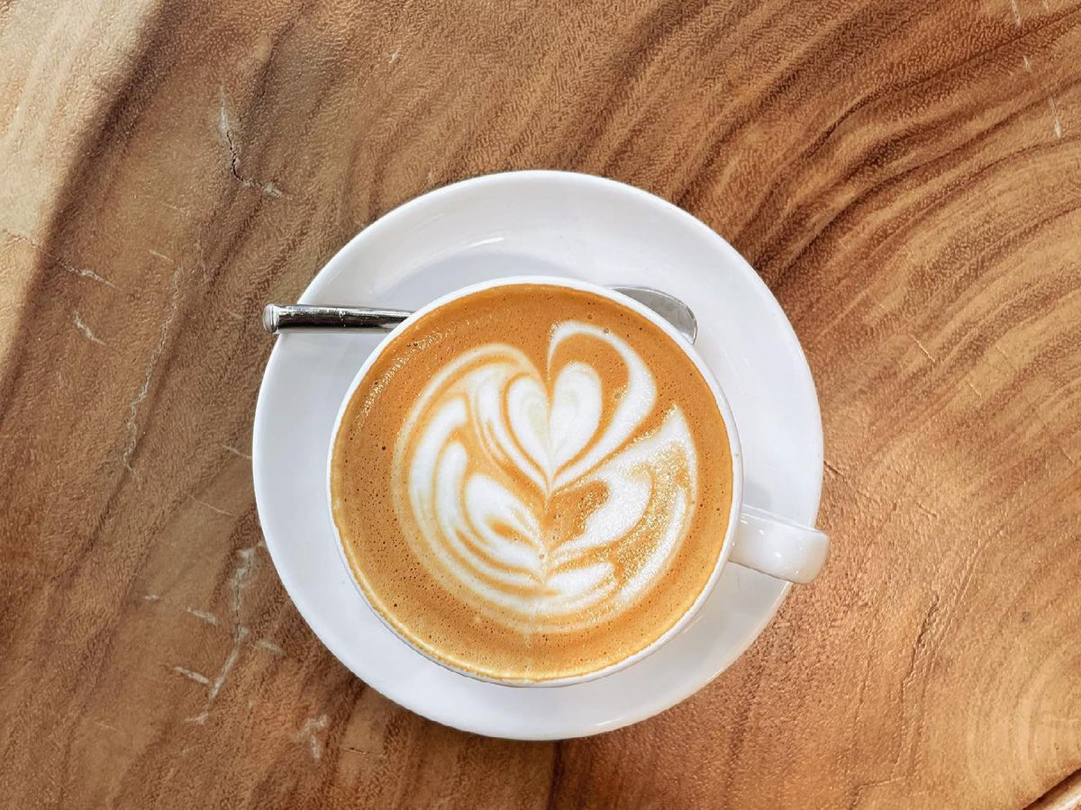 A coffee drink from Caffe Medici
