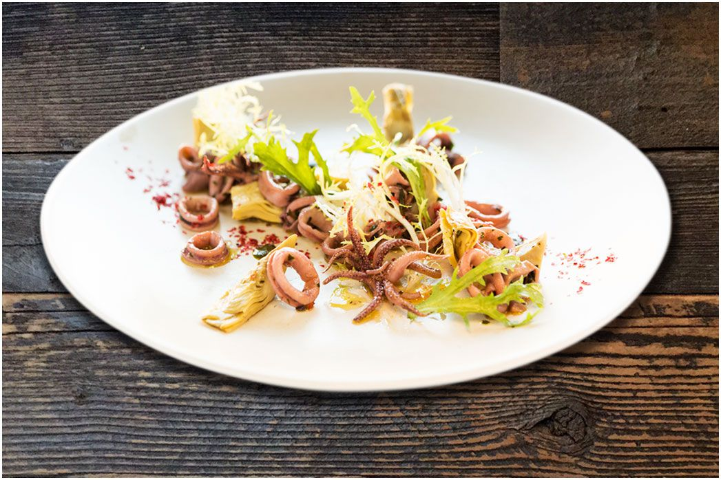 Squid salad at La Ciccia