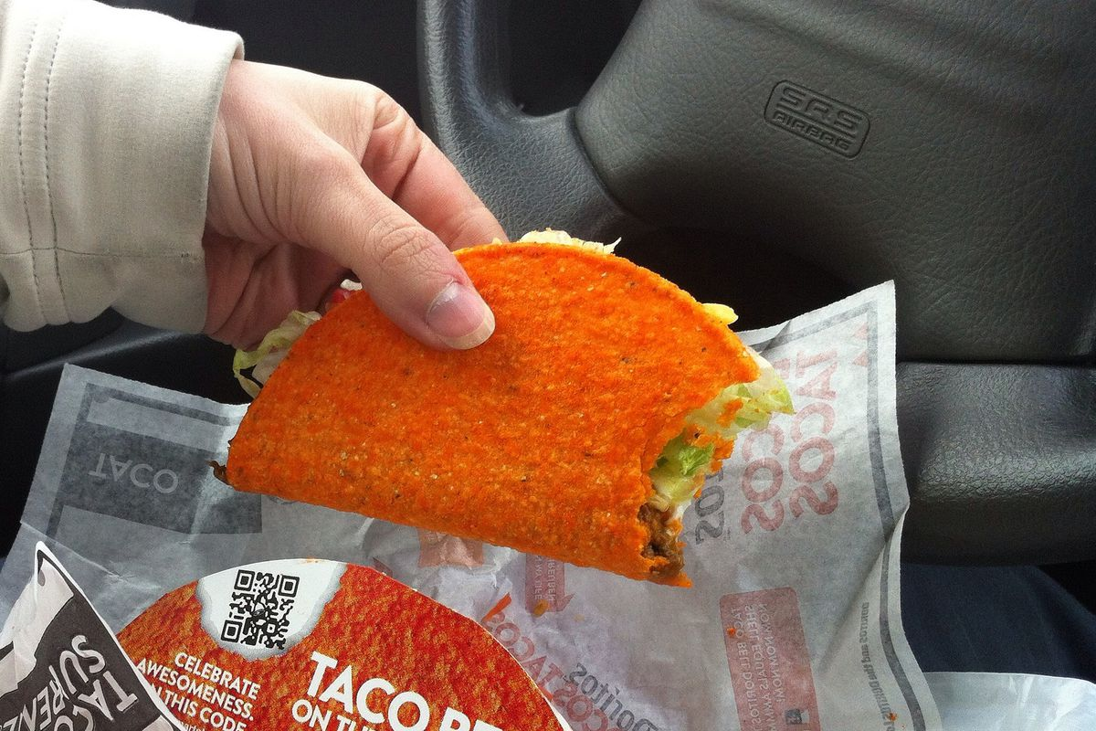 Taco Bell in the car