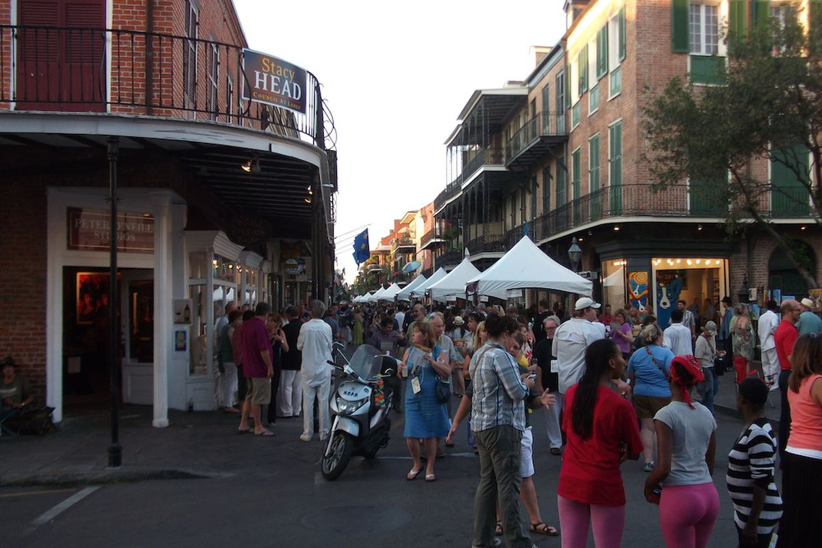 The scene at this year's Royal Street Stroll.
