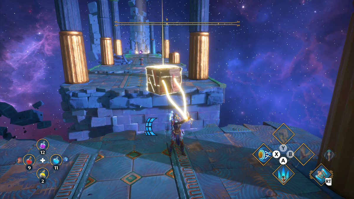 A puzzle solution for the Taking Cerberos for a Walk Vault of Tartarosin Immortals Fenyx Rising