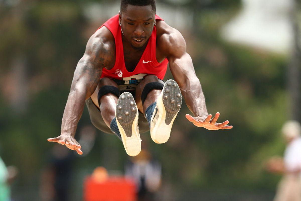 Big Ten Long Jump Champion Emeka Eze