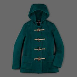 """Gloverall short duffle in green, originally $550, final sale price <a href=""""http://www.millmercantile.com/Gloverall_Short_Duffle_in_Green_11227.html"""">$198</a>"""