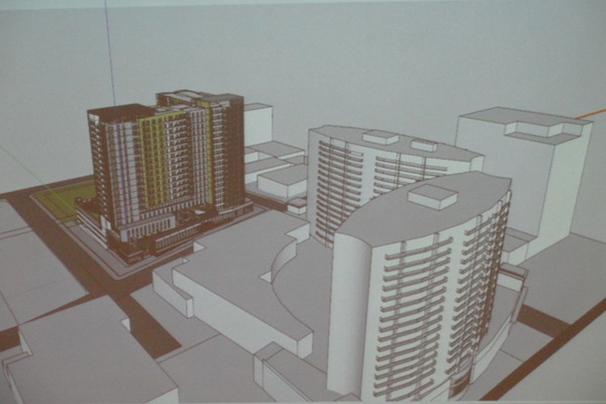 Rendering of potential tower at 930 Spring St.