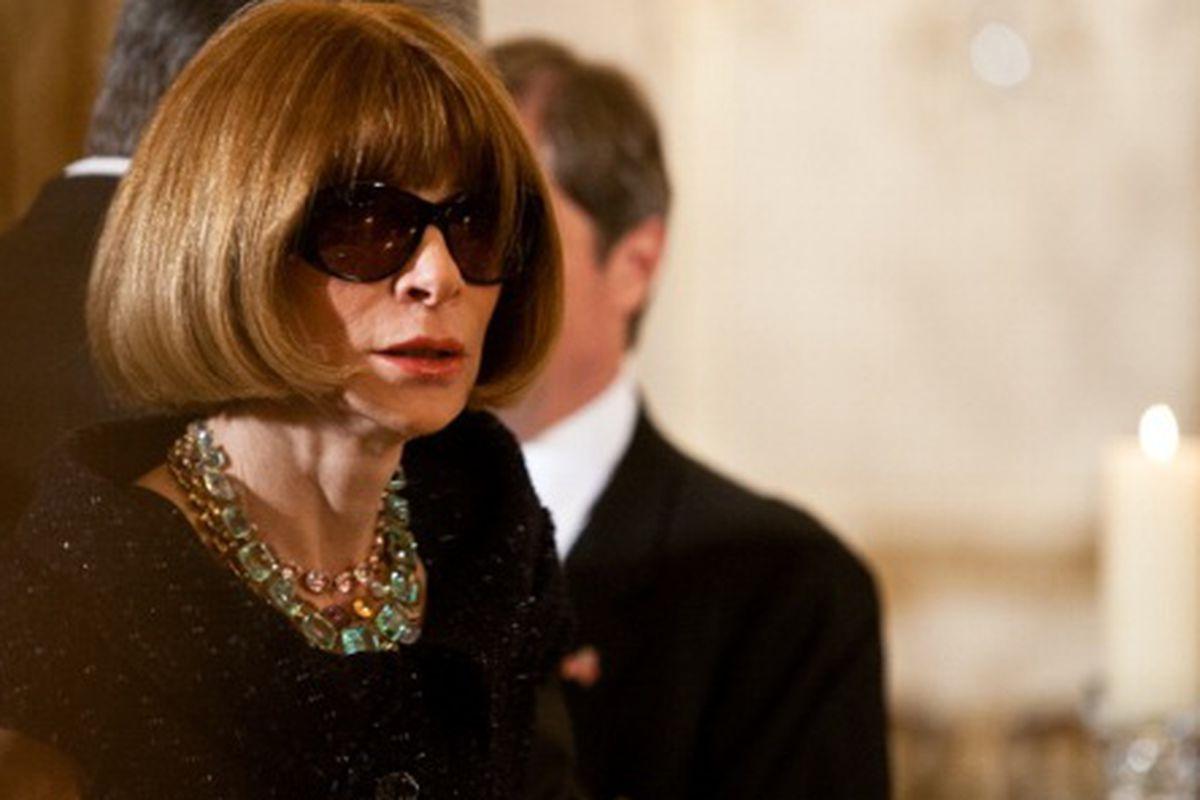 "Anna Wintour, ""Obama bundler."" Via Getty"