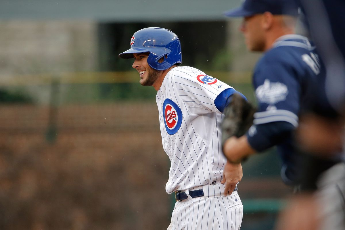 Well, there were no photos available of the Billy Goat, so let's just go with a picture of a happy Kris Bryant.