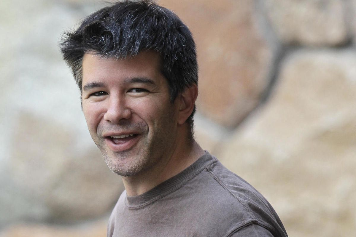 FILE - In this July 10, 2012, file photo, Uber CEO and co-founder Travis Kalanick arrives at a conference in Sun Valley, Idaho. Kalanick said in a statement to The New York Times on Tuesday that he has accepted a request from investors to step aside. Kala