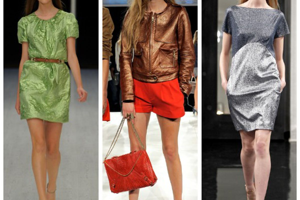 """Spring 2011 looks from (l-r): Matthew Williamson, Rebecca Minkoff, Victoria Beckham. Images via <a href=""""http://Style.com"""">Style.com</a>."""