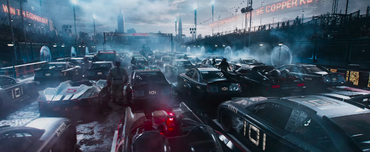 Ready Player One - race cars in the starting block