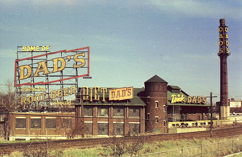 The former Dad's Root Beer sign at the Avondale bottling plant.   Courtesy dadsrootbeer.com