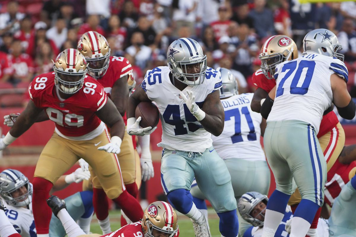 The Cowboys running back that no one is talking about after first preseason  game - Blogging The Boys 99a9f5926