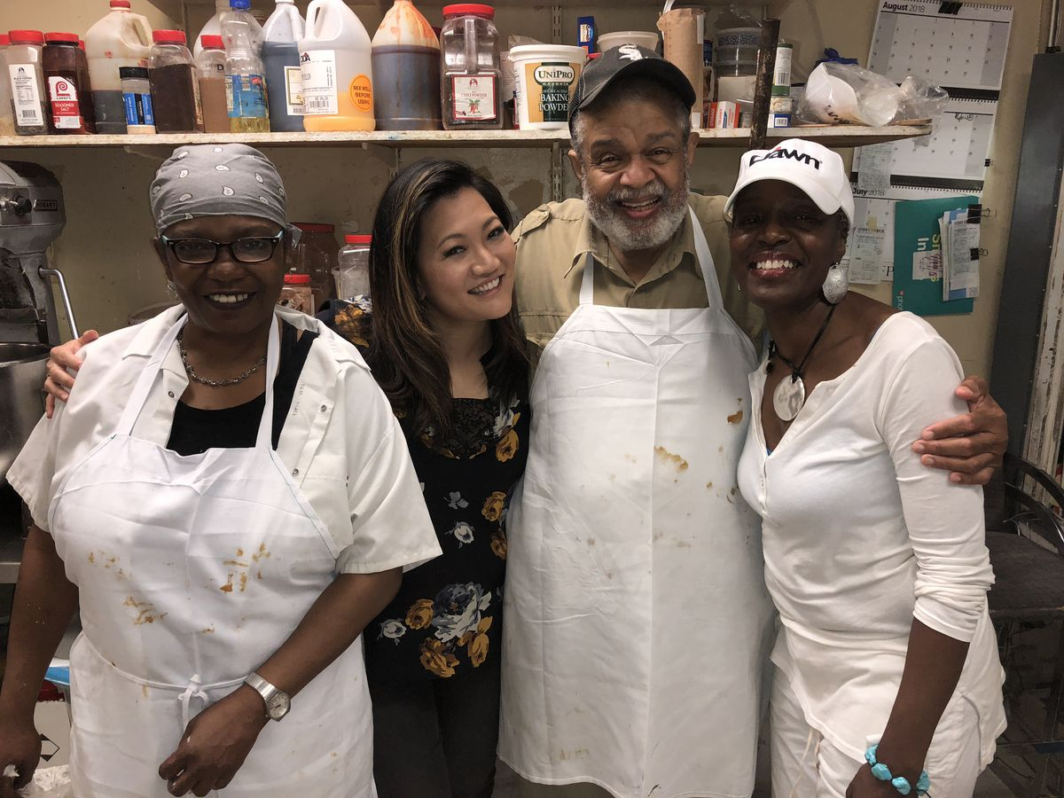 Ji Suk Yi with the team at Abundance Bakery in Bronzeville. A great place to stop during your self-guided walking tour of this important Chicago neighborhood. Brian Rich/For the Sun-Times