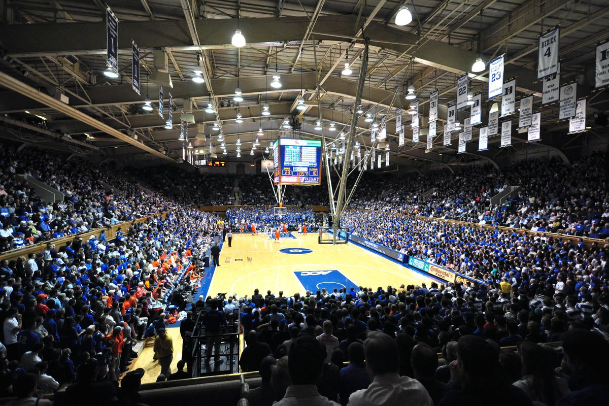 6bf2d88a67a6 General view of Cameron Indoor Stadium during a game between the Clemson  Tigers and Duke Blue Devils. Rob Kinnan-USA TODAY Sports