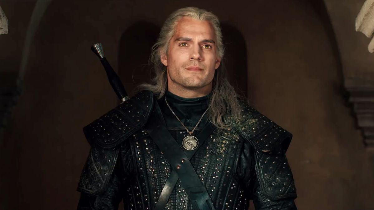 The Witcher, Geralt of Rivia, played by Henry Cavill