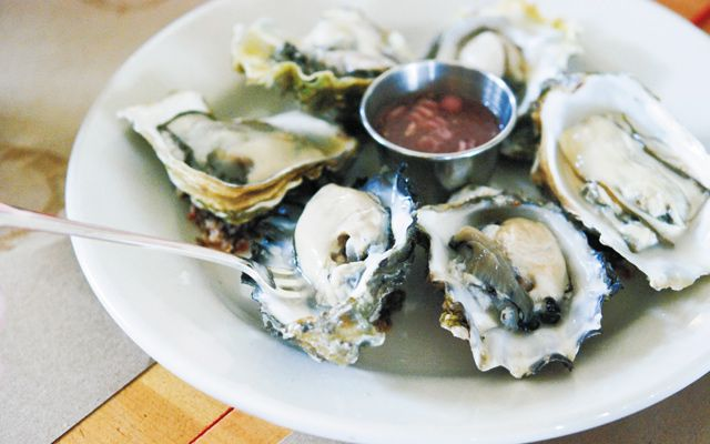 Oysters at Chef Shack Bay City. Photo by Stephanie A. Meyer