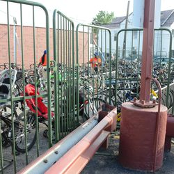 6:46 p.m. Bicycle valet, between the Cubs Store and McDonald's -
